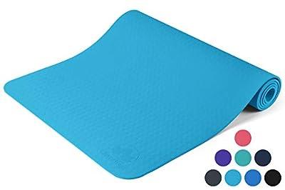 Clever Yoga Non-Slip 6mm Yoga Mat - Light Blue