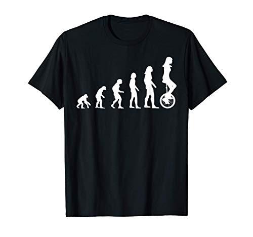 Einrad Einradfahrerin Damen Mädchen Geschenk Evolution T-Shirt