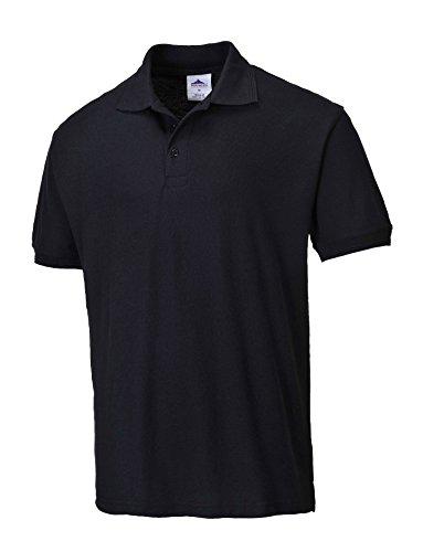 Portwest B210BLKXLGE Polo en polyester et coton avec col côtelé Noir Taille XL