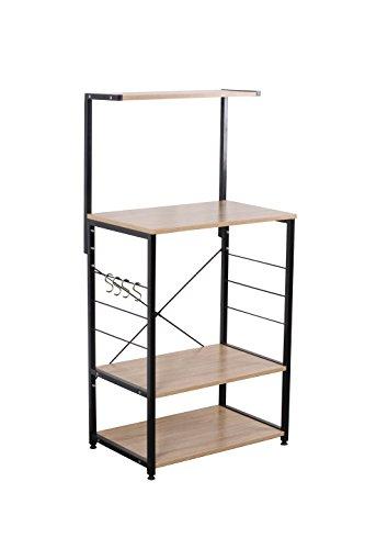 Uniware Professional Wooden Kitchen ShelfBaker Rack 4 Tier Shelves 2362 L x 1575 W x 4843 H