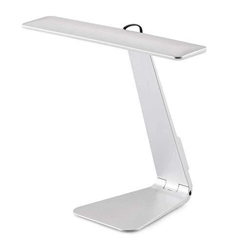 Lampe de bureau,SUAVER lumière de lecture LED lampe de table,3 niveaux de luminosité réglable,USB rechargeable et bonne toucher Contrôle(Argent)