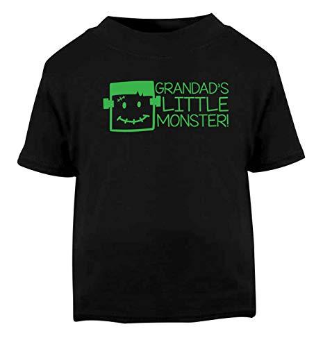 Flox Creative T-Shirt pour bébé Grandad's Little Monster Noir - Noir - 1-2 Ans