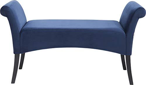 Kare Panca Imbottita Motley Velluto, Blu, 62 x 38 x 107 cm