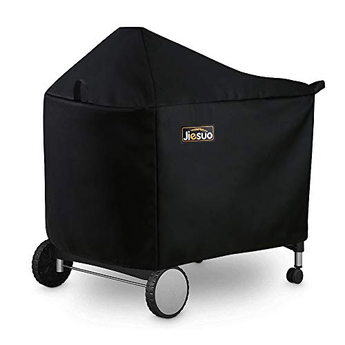 Jiesuo Grill Cover for Weber Performer Deluxe Charcoal: Premium 22 Inch BBQ Cover for Weber Performer Charcoal Grills