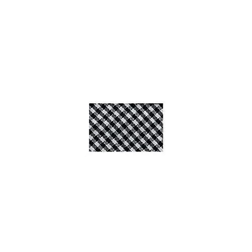 mediac Disquette 25m Biais Vichy tissé Polyester et Coton 30mm - Noir 2961-014