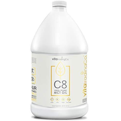 VitaTradingCo C8 100% Pure MCT Oil 128oz | Keto, Paleo & Vegan Diet Friendly | Clean Energy | Healthy Fat | BPA-Free | Sustainably Sourced | 3X Distilled | Non-GMO & Gluten-Free | 256 Serving 7