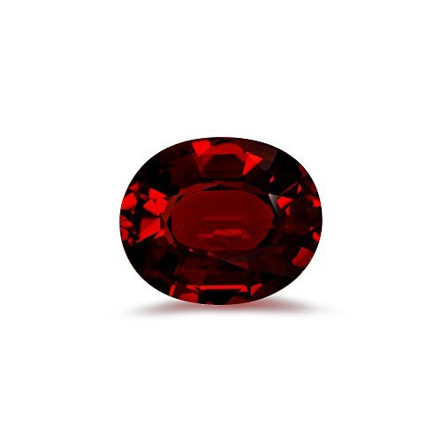 Mysticdrop 2.35-3.71 Cts of 10x8 mm AAA Oval Step Cut Mozambique Garnet (1 pc) Loose Gemstone