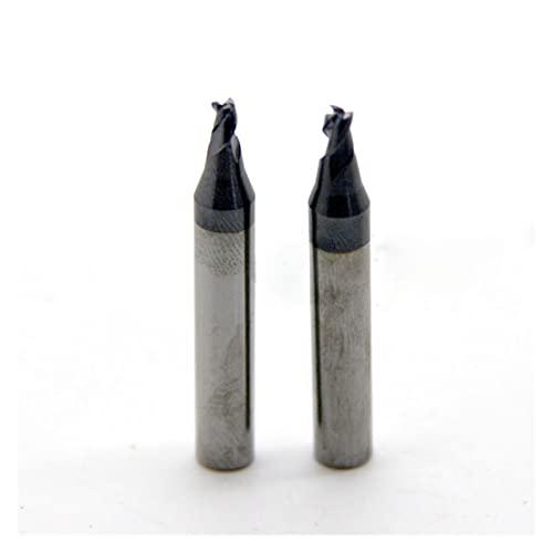 shiqi 2.2mm Molino de Extremo de carburo Tecla de tungsteno Tenedor de Broca Adecuada para multifunción Máquina de Llave de Llave de Llave de tecla Vertical Herramienta de cerrajería