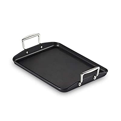 "Le Creuset Toughened PRO 10"" x 14"" Rectangular Griddle Nonstick Cookware, Grey"