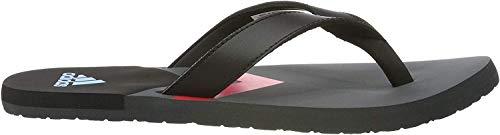 adidas Herren Eezay Flip Flop Dusch-& Badeschuhe, Schwarz (Core Black/Shock Cyan/Grey Six Core Black/Shock Cyan/Grey Six), 40.5 EU