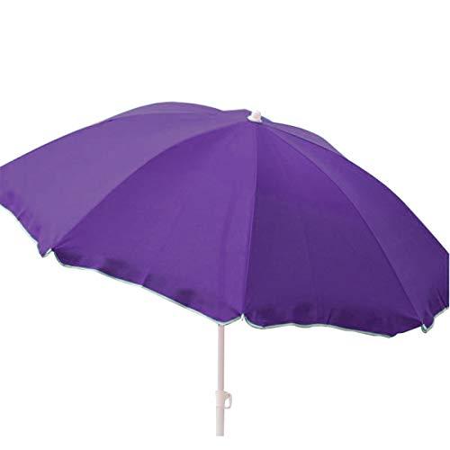 Strandschirm 170cm knickbar Sonnenschirm Schirm Nylon Gartenschirm Farbauswahl, Farbe:lila