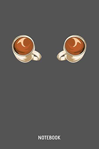 Notebook: A5 (Handtaschenformat) Punkteraster Kaffee Notizheft oder Koffein Journal - Barista Tagebuch oder Rezeptbuch als Notizbuch für Männer und Frauen