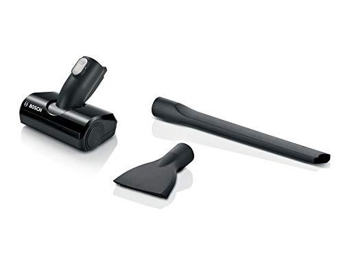 Bosch Zubehör-Set BHZUKIT, passend für Akku-Staubsauger Unlimited Serie 6 und 8, elektronische Minidüse, Matratzendüse, extra lange Fugendüse, praktische Staubox, schwarz