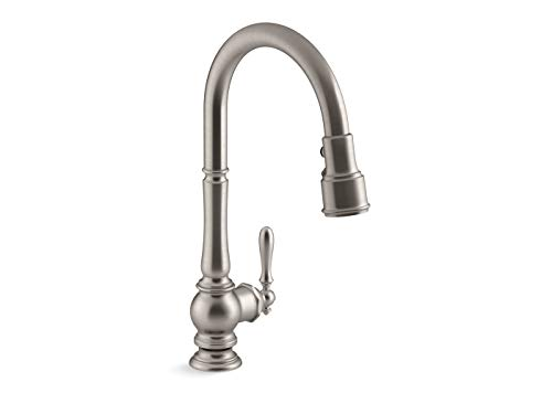 KOHLER K-99259-VS Artifacts Kitchen Sink Faucet, 17.63 x 4.31 x 8.50 Inches, Vibrant Stainless