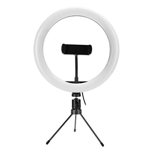 Tanke Anillo de luz LED de 10 Pulgadas USB Luz de Relleno de Escritorio USB Luz de Anillo LED con Soporte Triangular para transmisión en Vivo