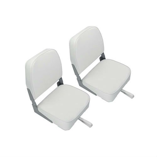 Marine & RV Direct Deluxe Folding Marine Boat Seats in White (Set of 2)