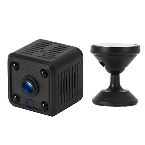 Pwshymi Mini cámara inalámbrica de visión nocturna Control remoto AC 100‑240V 720P Sensor infrarrojo para la seguridad de la oficina en casa para (regulación británica)