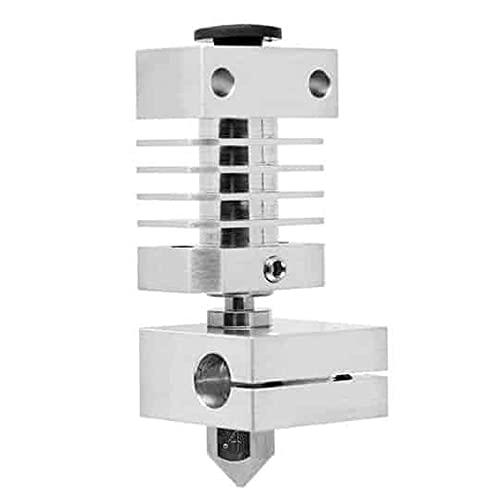 MMOBIEL Kit extrusor de Extremo Caliente para Impresora 3D MK8 ensamblado para filamento de conducción de 1,75 PTFE Incl. 3 Zócalos de Silicona / 6X Boquilla de latón MK8 0,4 / 4X 1m Cables Largos