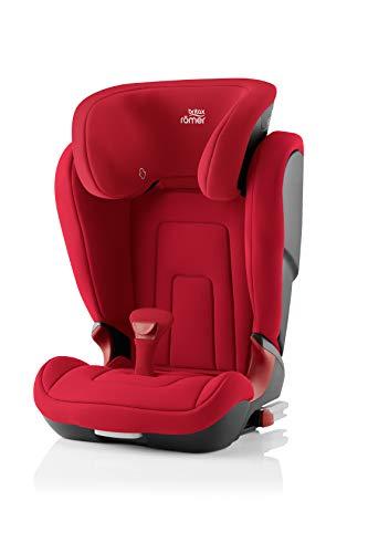 BRITAX RÖMER Siège Auto KIDFIX 2 R, Confortable avec Protections Latérales, enfant de 15 à 36 kg (Groupe 2/3) de 3.5 ans à 12 ans, Fire Red