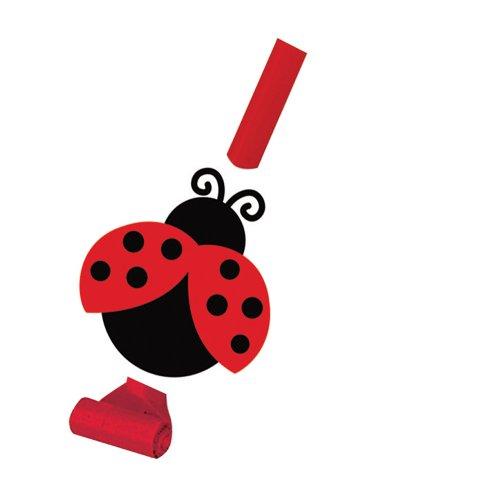 Creative Converting Marienkäfer Fancy Party Tröten mit Medallions, Ladybug Fancy, Einheitsgröße