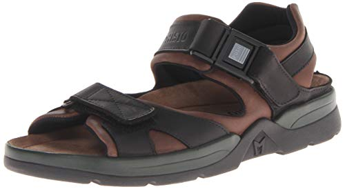 Mephisto Men's Shark Sandals Dark Brown/Black Waxy Leather 11 M US