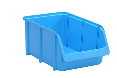 hünersdorff Sichtbox / Stapelbox / Lagerbox in Größe 4, stapelbar, Farbe: Blau