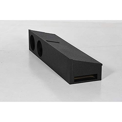 QPower QBFORDFF09208 8 Inch Dual Port Subwoofer Enclosure Box with Underseat Down Fire for Ford F150 Super Crew and Ford F250 and 350 Super Duty