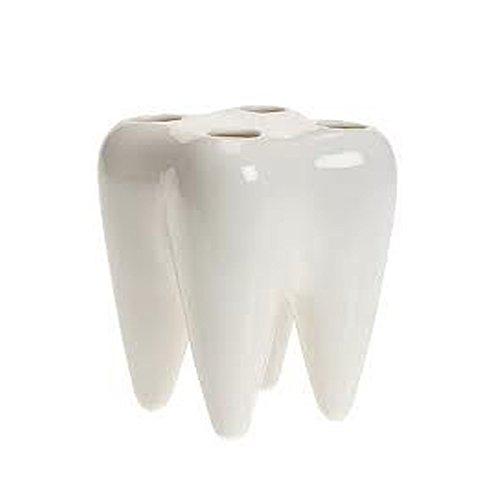 Porta spazzolini in plastica a forma di dente 4 spazi. PORTASPAZZOLINO DENTI PORTA ACCESSORI