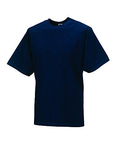 Jerzees - T-shirt - - Crew - Manches courtes Homme - Bleu - Bleu marine - Small