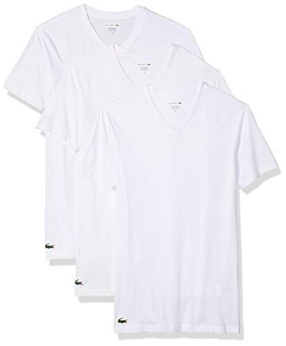 Lacoste Men's 100% Cotton V-Neck T-Shirt