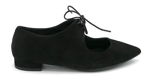 Andrea Zali 1226 Ballerina zum Schnüren Wildleder Schwarz - Schuhgröße 40 Farbe Schwarz