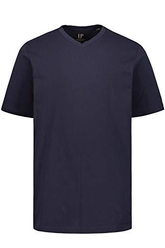 JP 1880 Herren große Größen bis 8XL, T-Shirt aus Jersey, Basic, V-Shirt, Reine Baumwolle, V-Ausschnitt, Navy XL 702415 76-XL