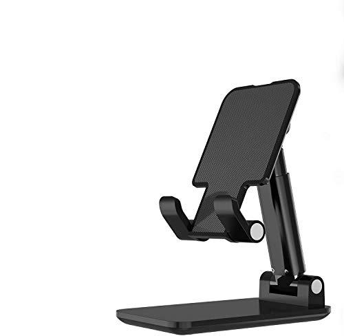 LeYi Stand Supporto Smartphone Regolabile Universale per Il Telefono Cellulare, Porta Pieghevole, Multi-Angolo di Dock per iPhone 11 PRO XR X SE 2020,Samsung S20 S10,Huawei,iPad,Tablet e Altro-Nero