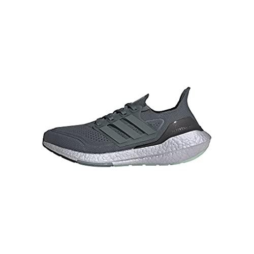 adidas Mens Ultraboost 21 Blue Oxide/Blue Oxide/Hazy Green 13