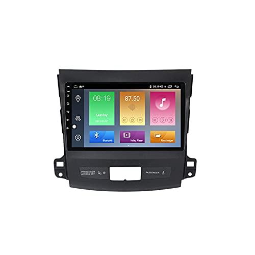 Android 10.0 Car Stereo 2 DIN Radio para Mitsubishi Outlander 2 2005-2011 Navegación GPS 9 '' Unidad Principal Reproductor Multimedia MP5 Receptor de Video con 4G / 5G WiFi Carplay