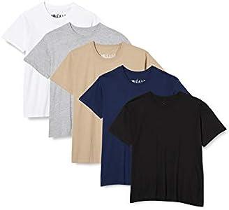 FM London Paquete de 5 camisetas Hombre con tecnología de protección de olores HyFresh , Large