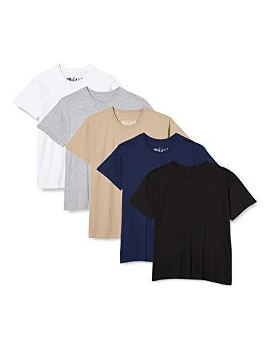 FM London Paquete de 5 camisetas Hombre con tecnología de protección de olores HyFresh , XX-Large
