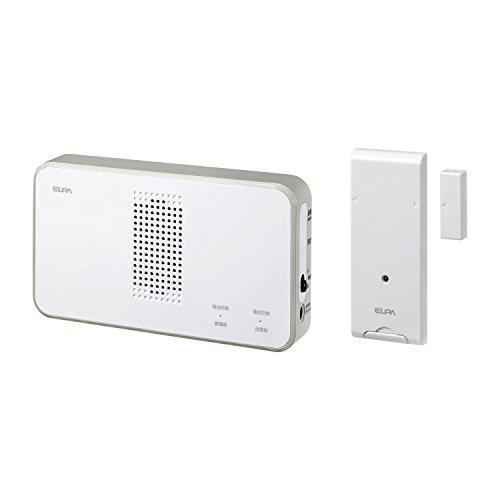 朝日電器 ELPA ワイヤレスチャイムドア開閉センサーセット ホワイト 21×25×3cm EWS-S5034 白
