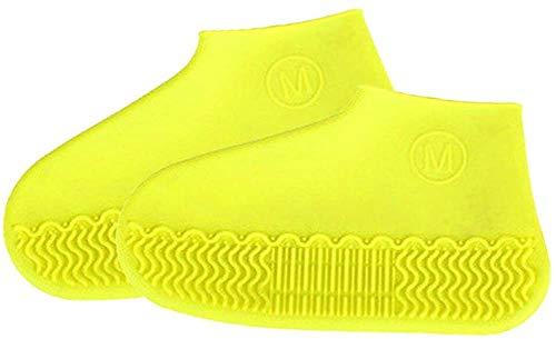 Silikon Regen Überschuhe, wasserdichte Schuhe Abdeckung Wiederverwendbare Regen Socken, Anti-Rutsch-Silikon-Überschuhe Regen Stiefel faltbare Regen Überschuhe Protektoren für Kinder, Männer und Frauen