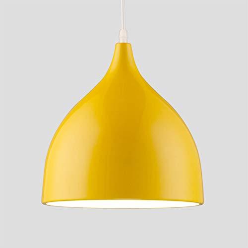 E27 Lampadario moderno Lampada color alluminio con altezza regolabile Soffitto Adottare Camera da letto Ristorante Counter Study Room Cafe Bar Cucina Corridoio(giallo) Plafoniera Lampadario