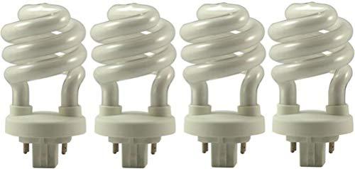 EiKO SP13/27-4P Compact Fluorescent Light Bulb (4-Pack), 13 Watts, G24q-1 Base, T-4 Bulb, 3.74/95mm MOL, 1.97/50mm MOD