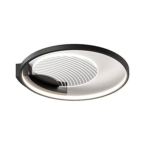 YHQSYKS Lámpara de Techo de Montaje Empotrado Moderna y Sencilla Lámparas para Dormitorio nórdico Montaje Empotrado en el Techo Lámparas Redondas Cerca del Techo para Comedor Sala de Estar Luz Negra