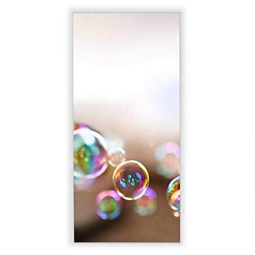 Banjado Wechselscheibe für IKEA GYLLEN Wandlampe | Glasscheibe für Wandleuchte 56x26cm | Echtglas Motiv Seifenblasen | Hochformat