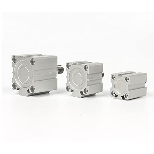 MING-BIN Aire del Cilindro de aleación SDA Tipo Bore 25mm Stroke 5/10/20/25/30/40/50/55/60/65 / 100mm Cilindro de pistón neumático de Aire de Doble actuación con Doble acción. Partes de maquinaria