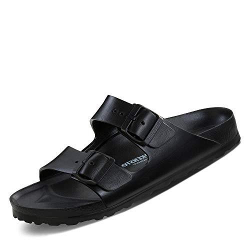 Birkenstock Women's Arizona Eva Narrow Fit Sandal Black-Black-4.5 Size 4.5