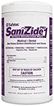 Safetec SaniZide Pro 1 Surface Disinfectant Wipes in 150ct Canister (Pack of 6 Canisters)