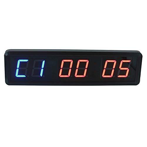 Shelf Temporizador de gimnasio Entrenamiento físico Entrenamiento del gimnasio Temporizador de intervalo Temporizador de reloj con control remoto interior para deportes, tabata, emom, escritorio de pa