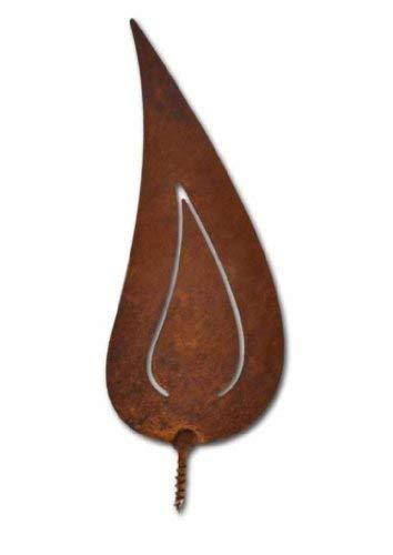 Rostikal | Rost Flammen Edelrost | Rostige Weihnachtsdeko Kerzenflamme zum Einschrauben | 2er Set