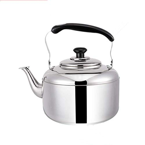 Fantastic Prices! Beautiful and practical Thick 304 stainless steel teapot whistle home kettle large capacity kettle gas gas induction cooker universal (Size : 6L)