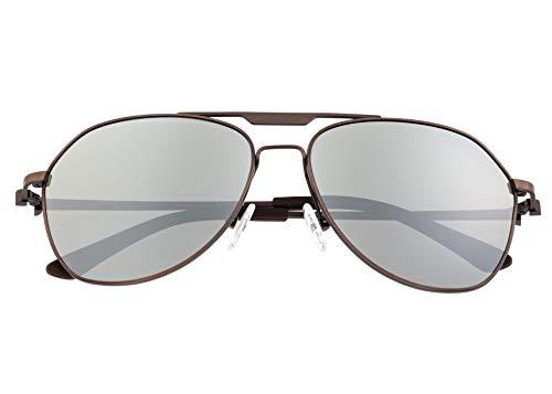 Breed Mount Titanium Polarisierte Herren-Sonnenbrille BSG056, BSG056RB, Braun, BSG056RB